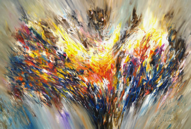 """Painting titled """"Nature Abstraction…"""" by Peter Nottrott, Original Art, Acrylic"""