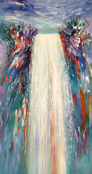 """Painting titled """"Mystery Waterfall L…"""" by Peter Nottrott, Original Art, Acrylic"""