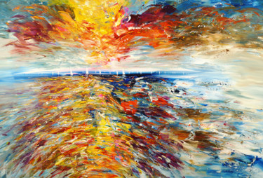 """Painting titled """"Seascape Sailing Im…"""" by Peter Nottrott, Original Art, Acrylic"""