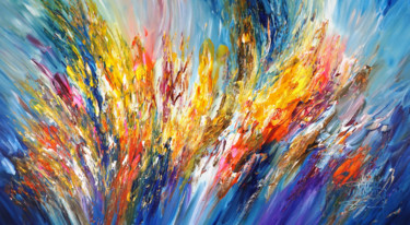 Color Painting, acrylic, abstract, artwork by Peter Nottrott