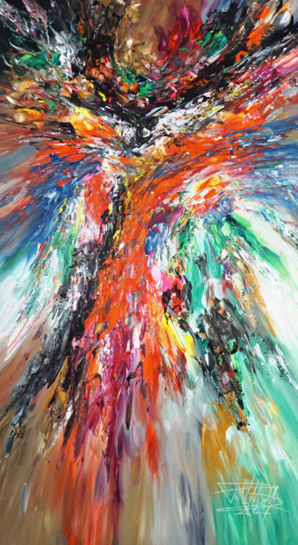 """Painting titled """"Awesome Dynamics L 2"""" by Peter Nottrott, Original Art, Acrylic"""