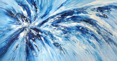 """Painting titled """"Blue Impression XXL…"""" by Peter Nottrott, Original Art, Acrylic"""