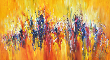 """Painting titled """"One Day In July L 1"""" by Peter Nottrott, Original Art, Acrylic"""