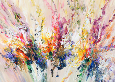 """Painting titled """"Awesome Energy M 1"""" by Peter Nottrott, Original Art, Acrylic"""