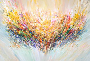 """Painting titled """"Positive Energy XL 2"""" by Peter Nottrott, Original Art, Acrylic"""