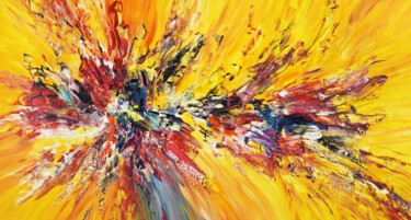 """Painting titled """"Red And Yellow Ener…"""" by Peter Nottrott, Original Art, Acrylic"""