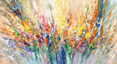 """Painting titled """"Summer Symphony L 4"""" by Peter Nottrott, Original Art, Acrylic"""