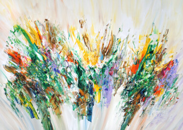 """Painting titled """"Green Nature Energy…"""" by Peter Nottrott, Original Art, Acrylic"""