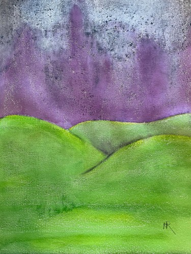 """Painting titled """"Abstract Snowstorm"""" by Nancy Riedell, Original Art, Watercolor"""