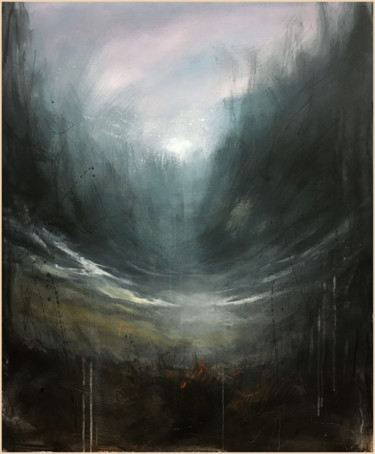 """Painting titled """"Deep Air Beneath"""" by Nusret Aktay, Original Art, Acrylic Mounted on Stretcher frame"""