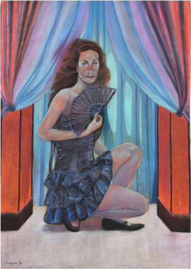 """Painting titled """"Witch"""" by Davide Rodoquino, Original Art, Pastel"""