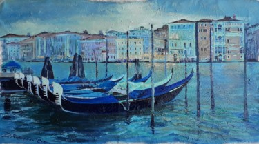 """Painting titled """"Canal Grande 2020 S…"""" by Davide Rodoquino, Original Art, Oil"""