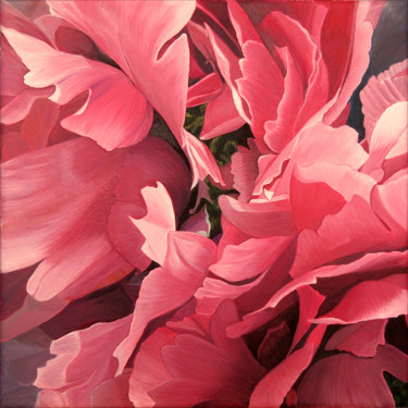 """Painting titled """"Pivoine 05"""" by Odile Faure, Original Art, Oil"""