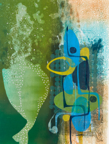 Printmaking, monotype, abstract, artwork by Oi Fortin