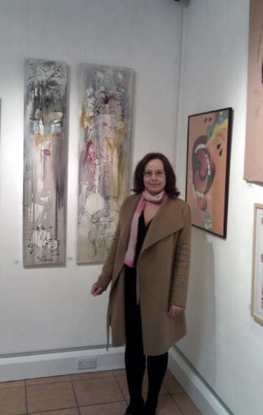 Art show at the BAR Gallery in April 2012.
