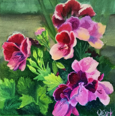Flower Painting, oil, classicism, artwork by Oksana Evteeva