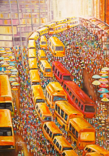 Painting, acrylic, expressionism, artwork by Olaoluwa Smith
