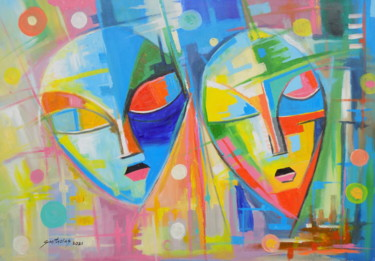 Color Painting, acrylic, abstract, artwork by Olaoluwa Smith