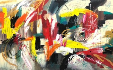 Color Painting, oil, abstract, artwork by Olena Kryvonos