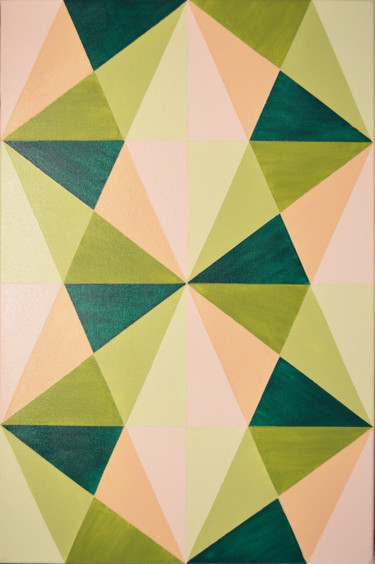 """Painting titled """"Love Triangles - Ab…"""" by Olesea Arts, Original Art, Acrylic"""