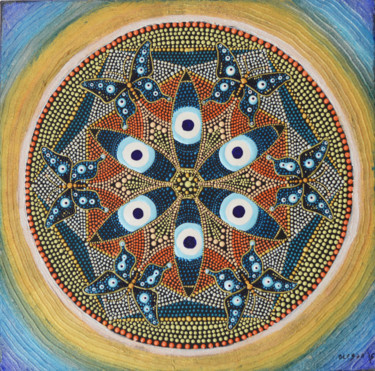 """Painting titled """"Evil Eye Butterfly…"""" by Olesea Arts, Original Art, Acrylic"""
