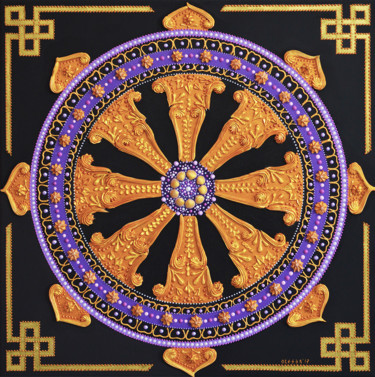 """Painting titled """"""""The Wheel of Life""""…"""" by Olesea Arts, Original Art, Acrylic"""