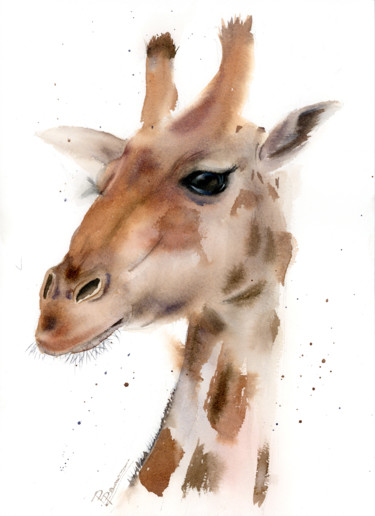 Animal Painting, watercolor, impressionism, artwork by Paintispassion