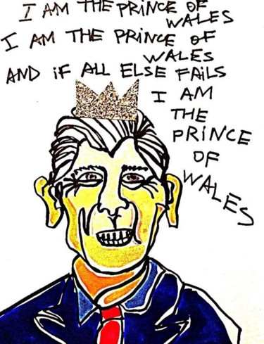 """Printmaking titled """"Prince of Wales"""" by Fpi, Original Art,"""