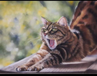 """Painting titled """"Stretching"""" by Olgad, Original Art, Pastel"""
