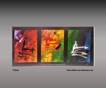 """Painting titled """"optical illusion"""" by Olivier Art Abstrait, Original Art, Acrylic Mounted on Stretcher frame"""