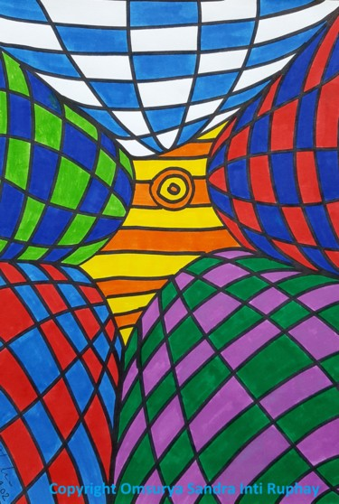 Drawing, marker, abstract, artwork by Omsurya Sandra Inti Ruphay