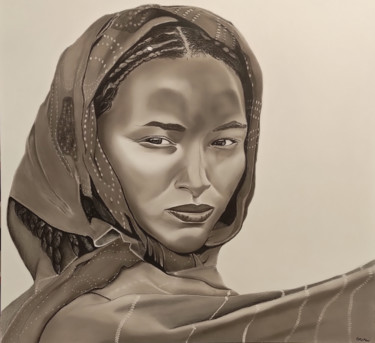 """Drawing titled """"She knows"""" by Oncekeni, Original Art, Charcoal"""