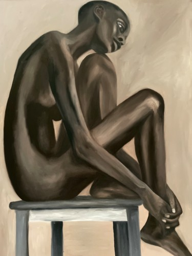 """Painting titled """"Loneliness"""" by Anastasia Ovechkina, Original Art, Oil"""