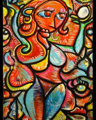 """Painting titled """"""""Muneca confunidida…"""" by Oscar Galvan, Original Art, Oil"""