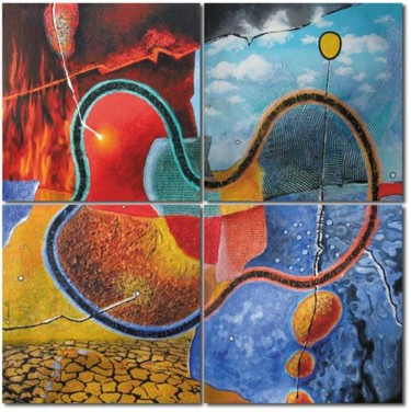 100x100 cm ©2008 by Jean-Luc OSSWALD