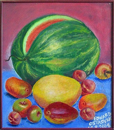 """Painting titled """"Water-melon"""" by Edward Ostrovsky, Original Art, Other"""