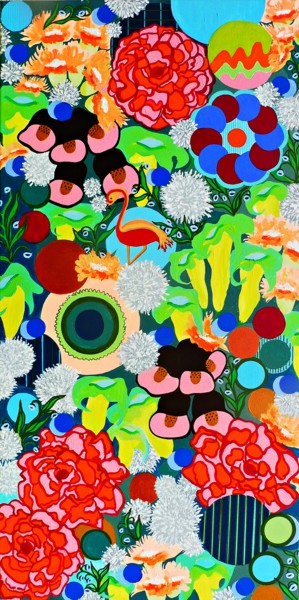 """Painting titled """"FLORAL MADNESS -  l…"""" by Pacoshabe, Original Art, Acrylic"""