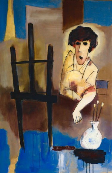 Painting, acrylic, expressionism, artwork by Paddy