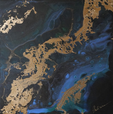 """Painting titled """"«Planet EARTH» gold…"""" by Palirina, Original Art, Acrylic Mounted on Stretcher frame"""