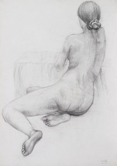 """Drawing titled """"To Come Down To Ear…"""" by Pamela Rys, Original Art, Pencil"""