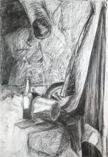 """Drawing titled """"Strike While The Ir…"""" by Pamela Rys, Original Art, Charcoal"""