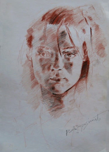 """Drawing titled """"MARYNA"""" by Paola Imposimato, Original Art, Graphite"""