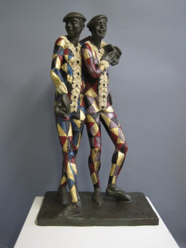 """Sculpture titled """"The Actors"""" by Paolo Camporese, Original Art, Terra cotta"""