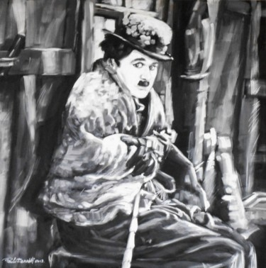 """Painting titled """"CHARLOT"""" by Paolo Benedetti, Original Art, Acrylic"""