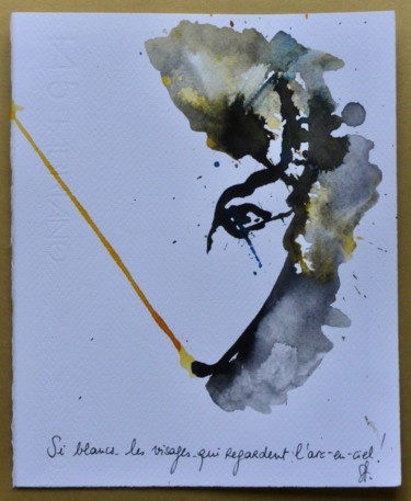 """Drawing titled """"«Si blancs les vis…"""" by Pascal Stutz, Original Art, Ink"""
