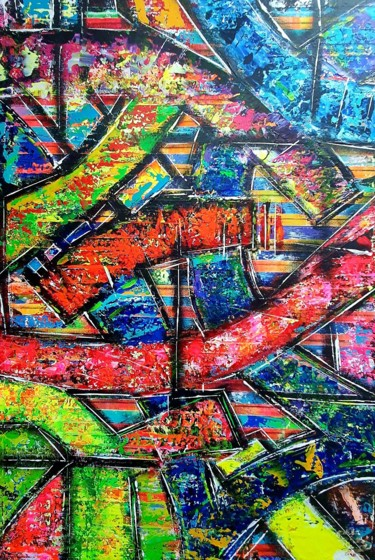 Color Painting, acrylic, abstract, artwork by Yimba