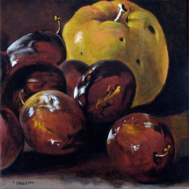 Still life Painting, acrylic, figurative, artwork by Patrice Lannoy