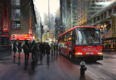 """Painting titled """"New York sightseeing"""" by Patrice Larue, Original Art, Oil"""