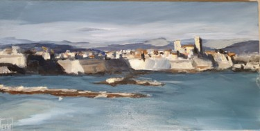 """Painting titled """"Antibes"""" by Patricia Lejeune, Original Art, Oil"""