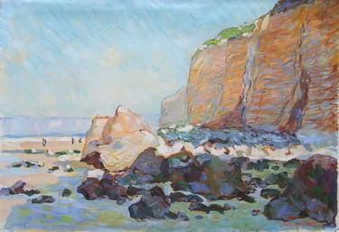 """Painting titled """"Falaise près de Die…"""" by Patrick Marie, Original Art, Oil Mounted on Stretcher frame"""
